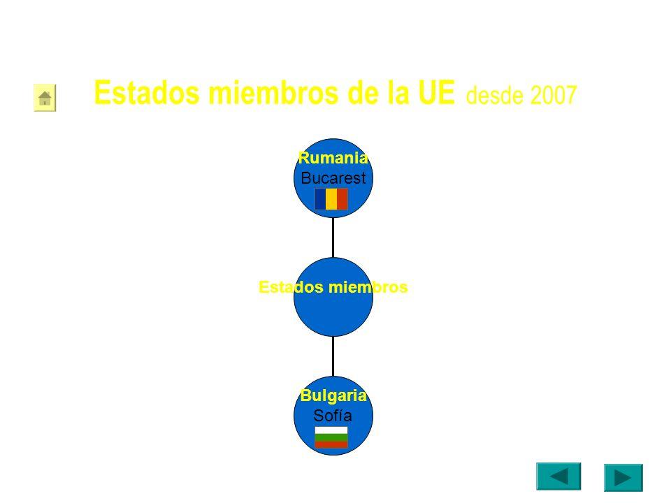Estados miembros de la UE desde 2007