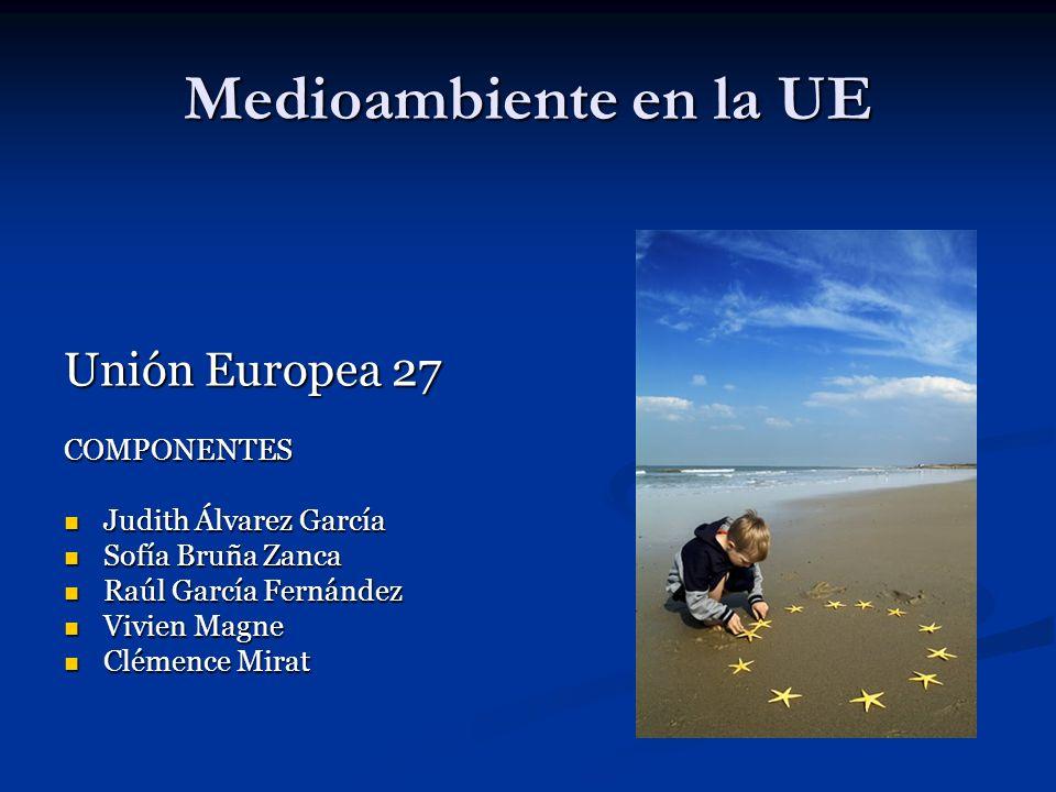 Medioambiente en la UE Unión Europea 27 COMPONENTES