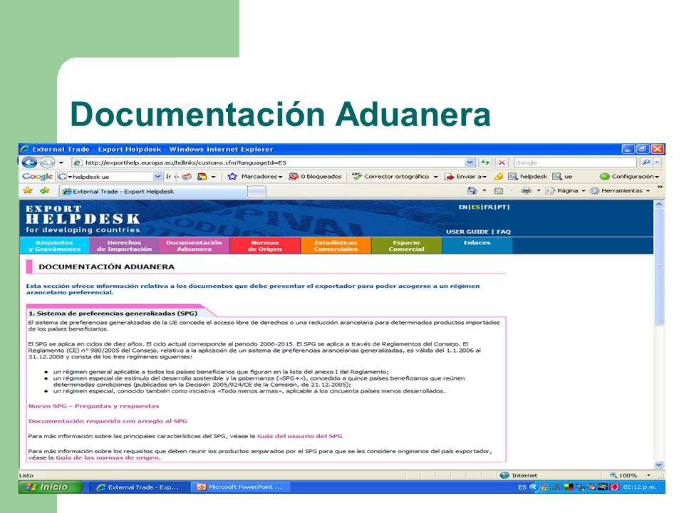 Documentación Aduanera
