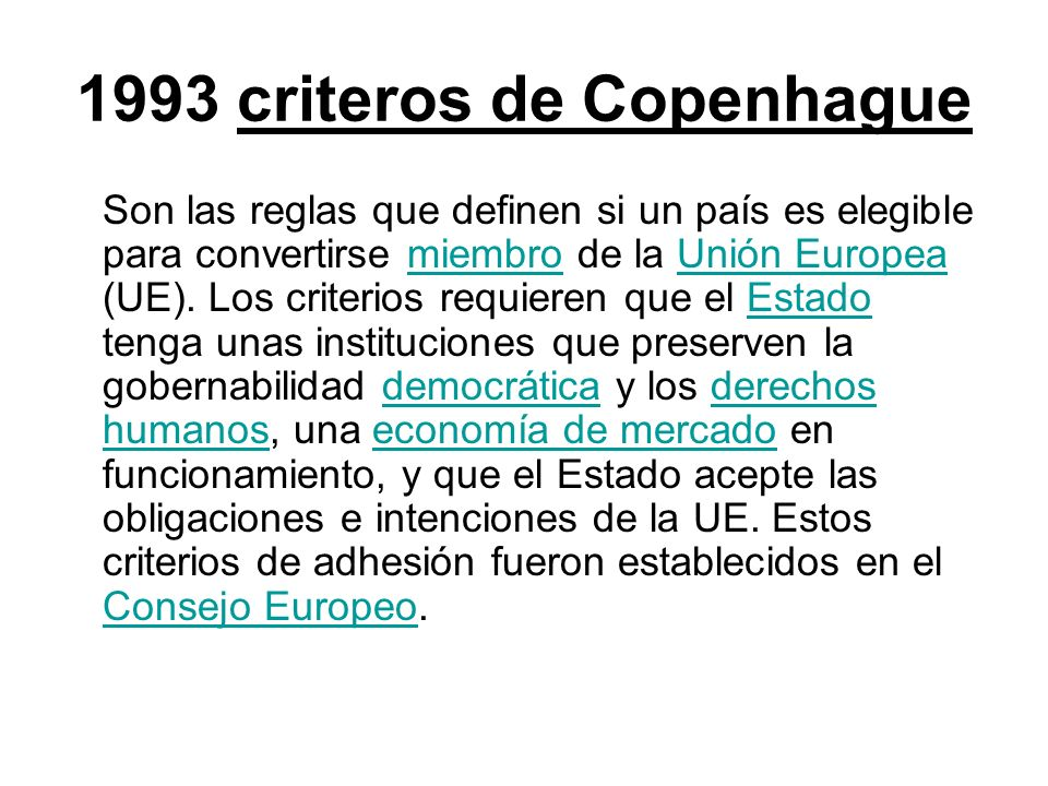 1993 criteros de Copenhague