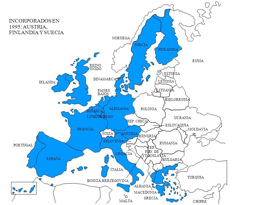 INCORPORADOS EN 1995: AUSTRIA, FINLANDIA Y SUECIA