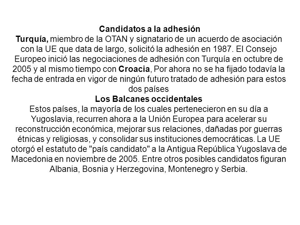 Candidatos a la adhesión