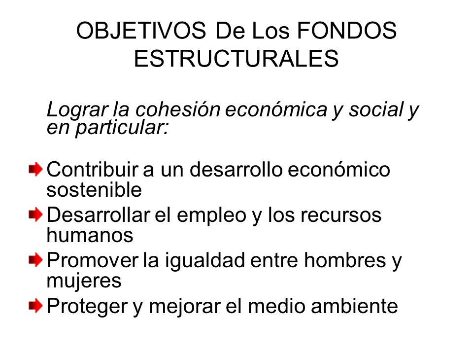OBJETIVOS De Los FONDOS ESTRUCTURALES