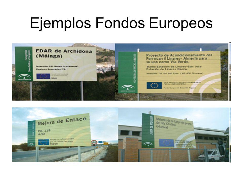 Ejemplos Fondos Europeos