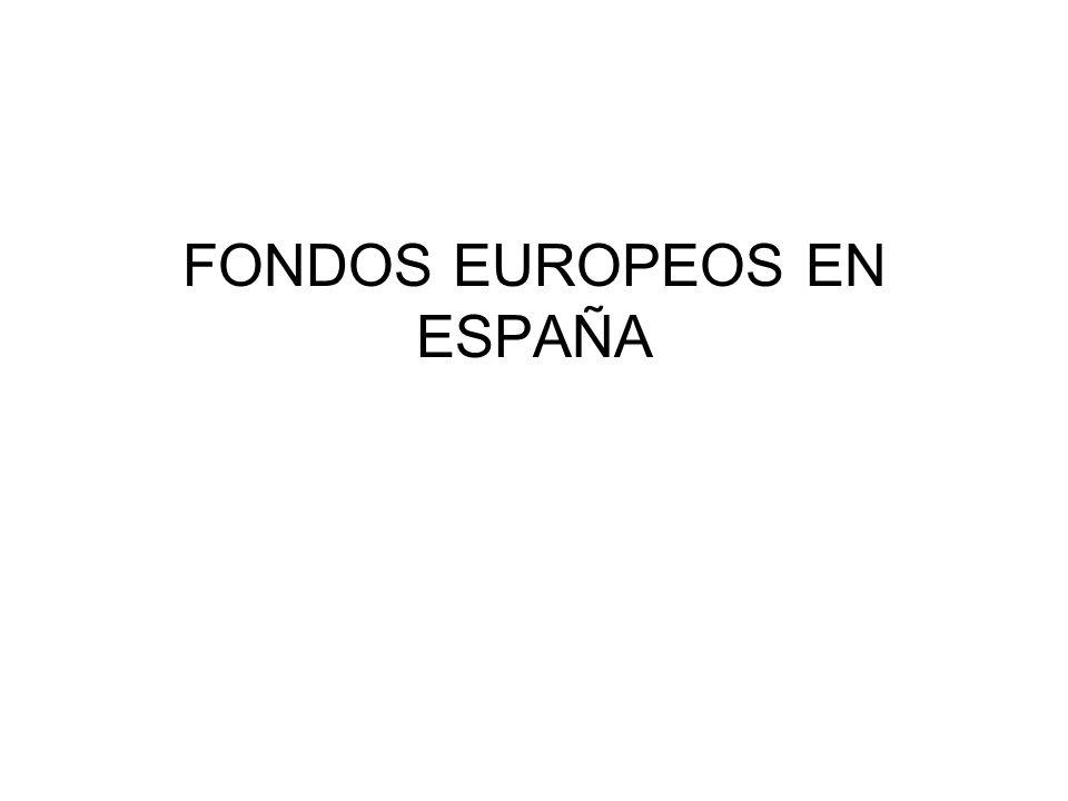 FONDOS EUROPEOS EN ESPAÑA