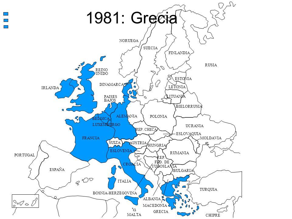 1981: Grecia NORUEGA SUECIA FINLANDIA RUSIA REINO UNIDO ESTONIA