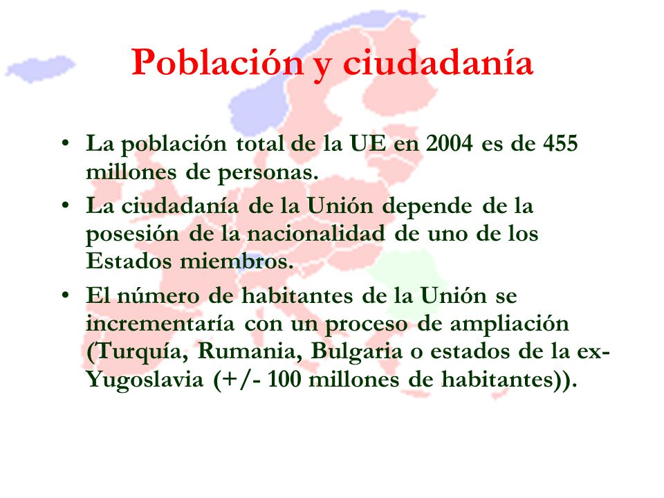 Población y ciudadanía