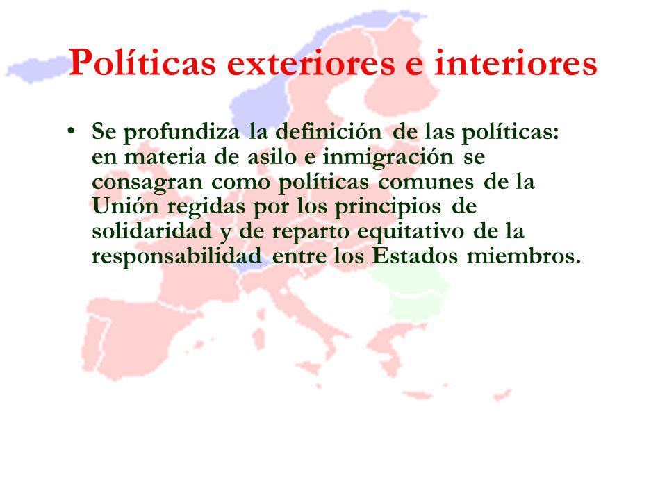 Políticas exteriores e interiores