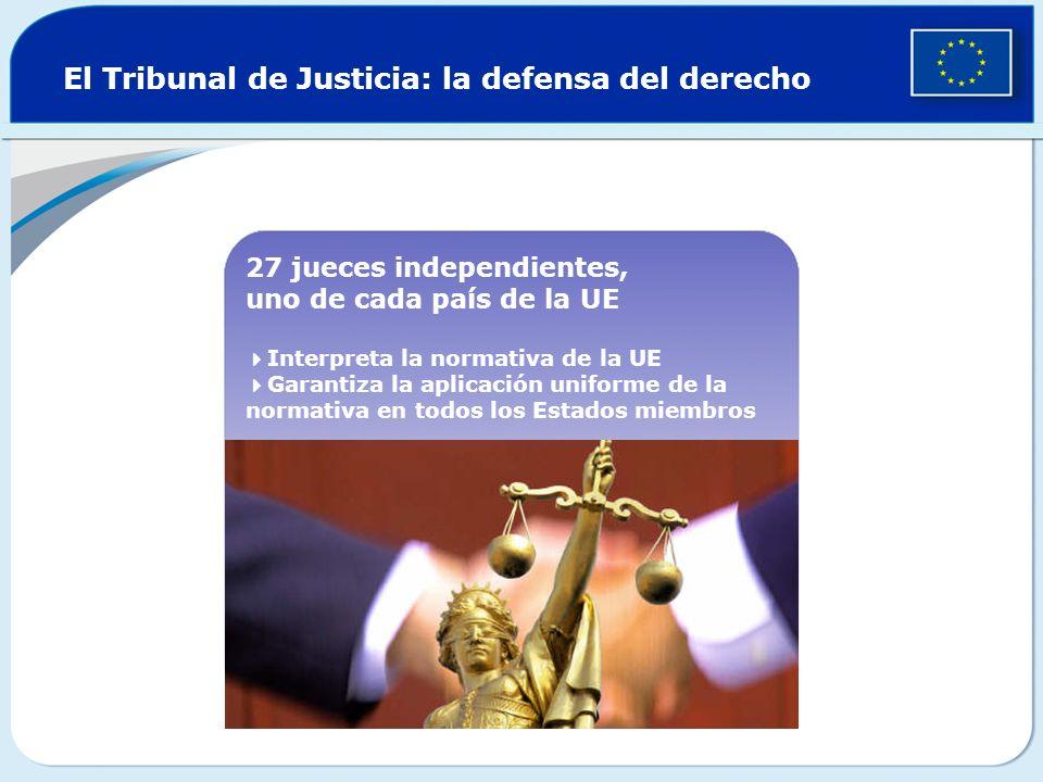 El Tribunal de Justicia: la defensa del derecho
