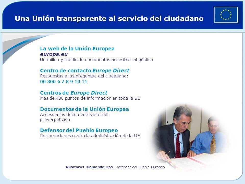 Una Unión transparente al servicio del ciudadano
