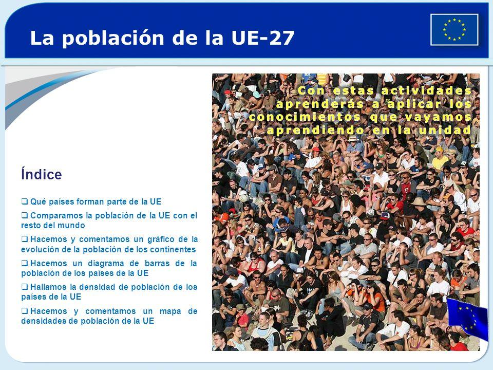 La población de la UE-27 Índice