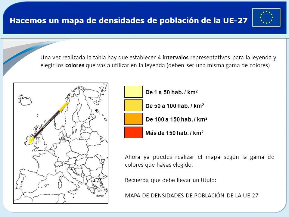 Hacemos un mapa de densidades de población de la UE-27