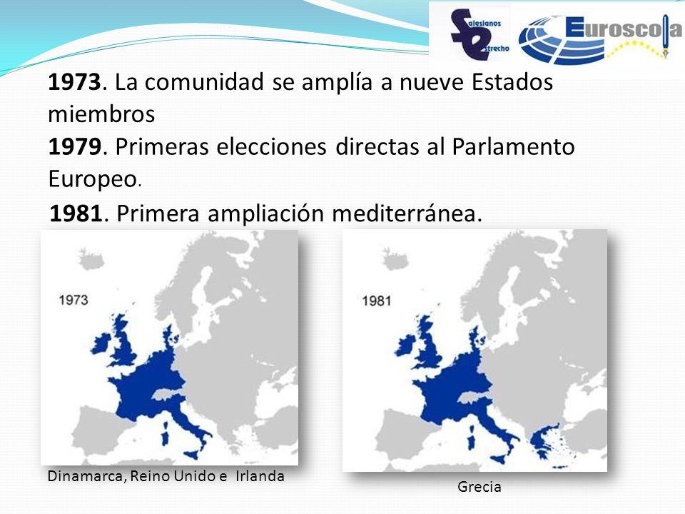 1973. La comunidad se amplía a nueve Estados miembros