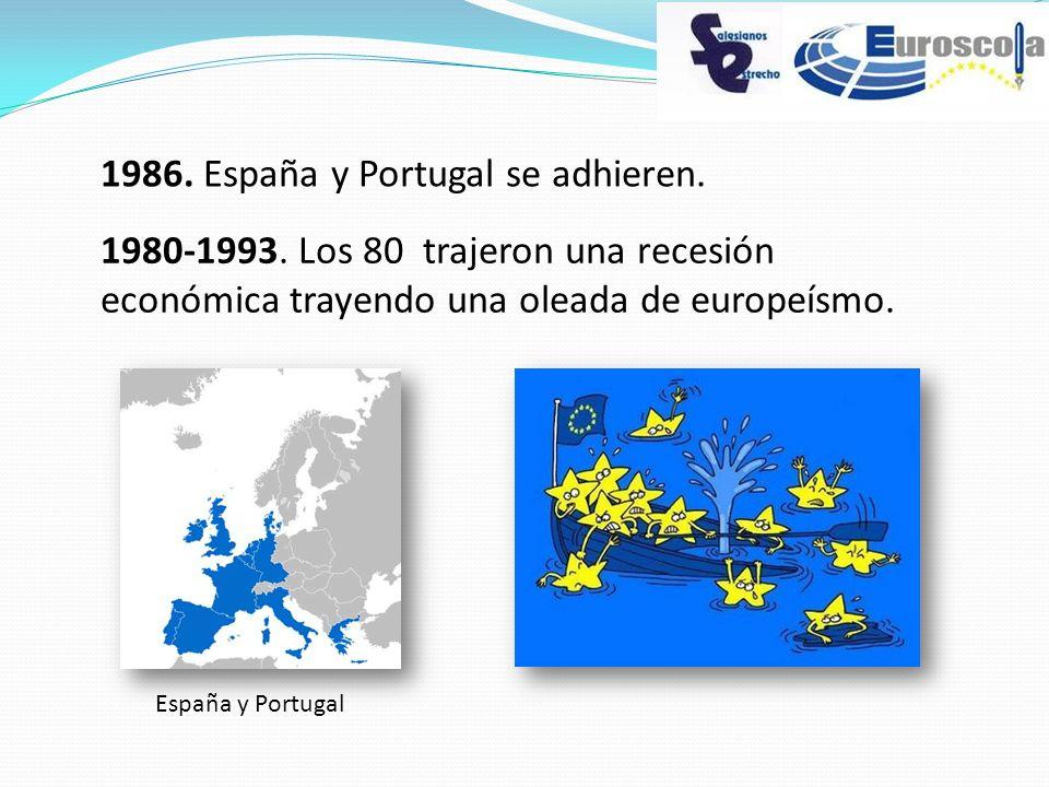 1986. España y Portugal se adhieren.