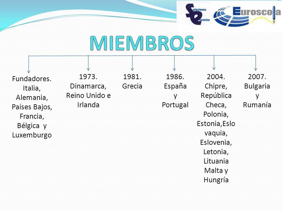 MIEMBROS 1973. Dinamarca, Reino Unido e Irlanda 1981. Grecia