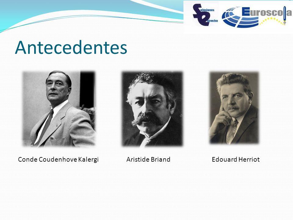 Antecedentes Conde Coudenhove Kalergi Aristide Briand Edouard Herriot