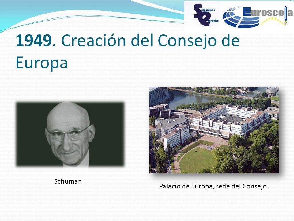1949. Creación del Consejo de Europa