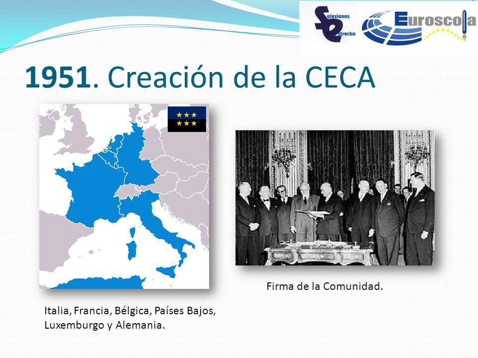 1951. Creación de la CECA Firma de la Comunidad.
