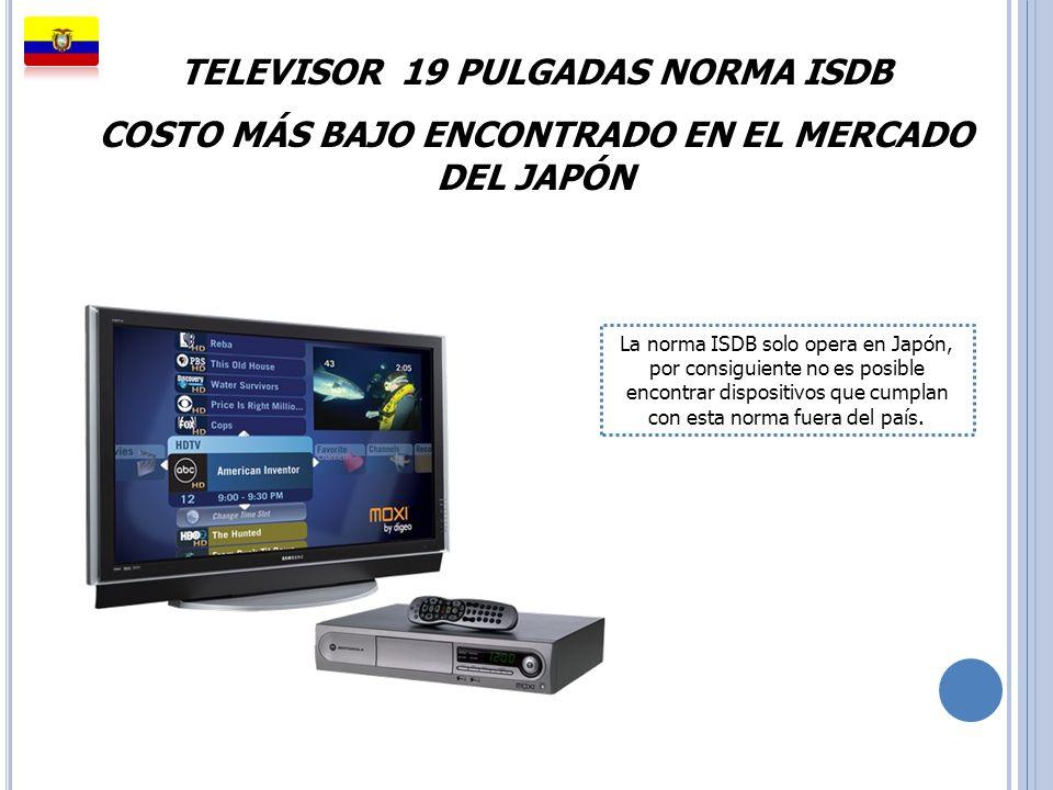 TELEVISOR 19 PULGADAS NORMA ISDB