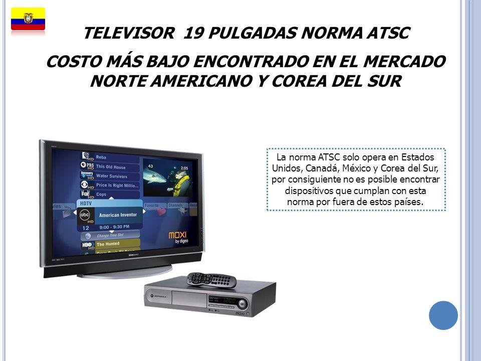 TELEVISOR 19 PULGADAS NORMA ATSC