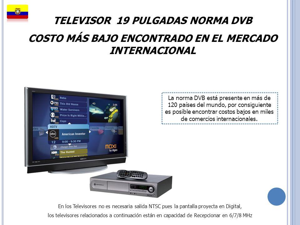 TELEVISOR 19 PULGADAS NORMA DVB