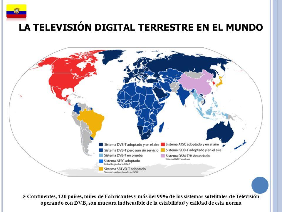 LA TELEVISIÓN DIGITAL TERRESTRE EN EL MUNDO