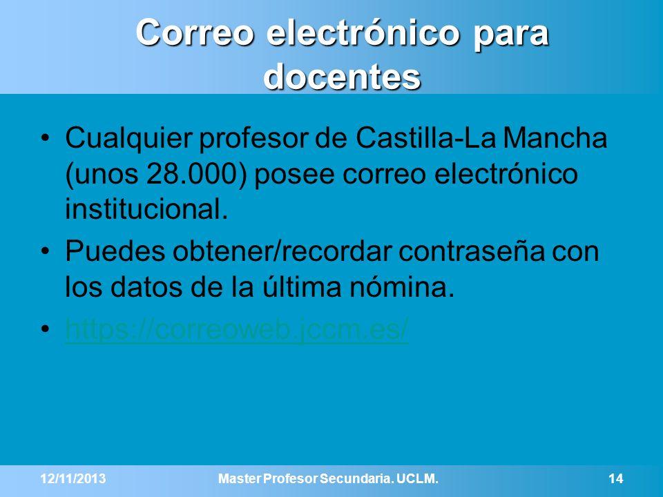 Correo electrónico para docentes