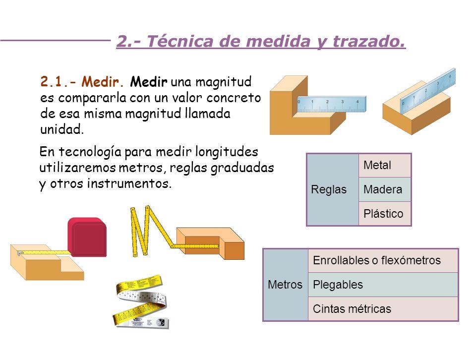 2.- Técnica de medida y trazado.