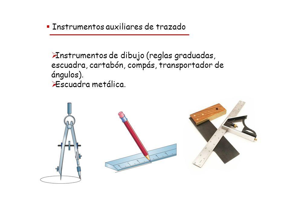 Instrumentos auxiliares de trazado