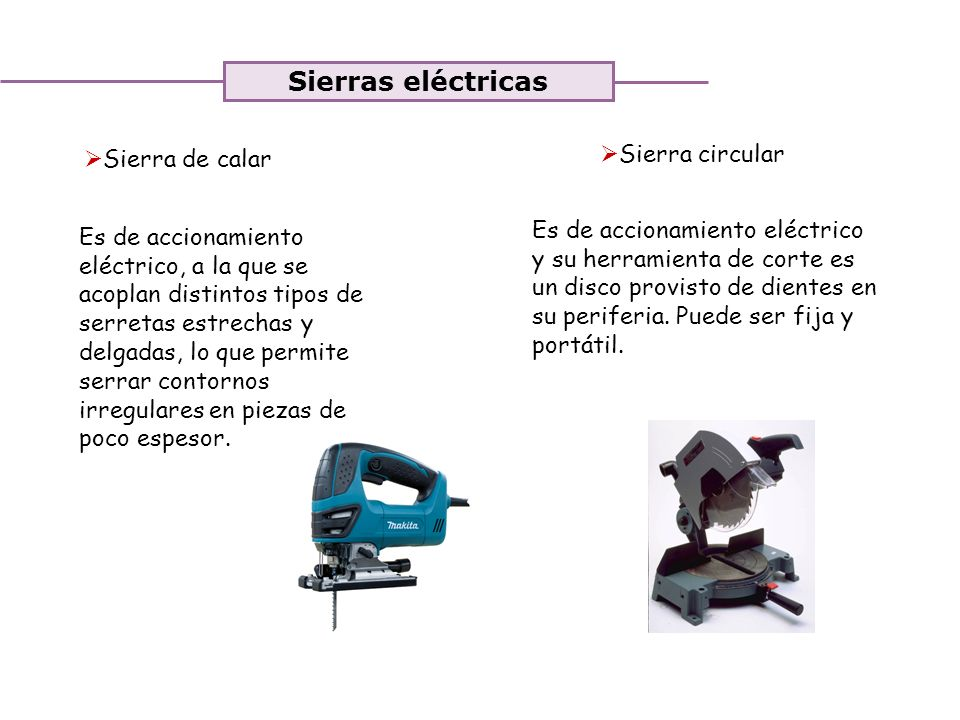 Sierras eléctricas Sierra circular Sierra de calar