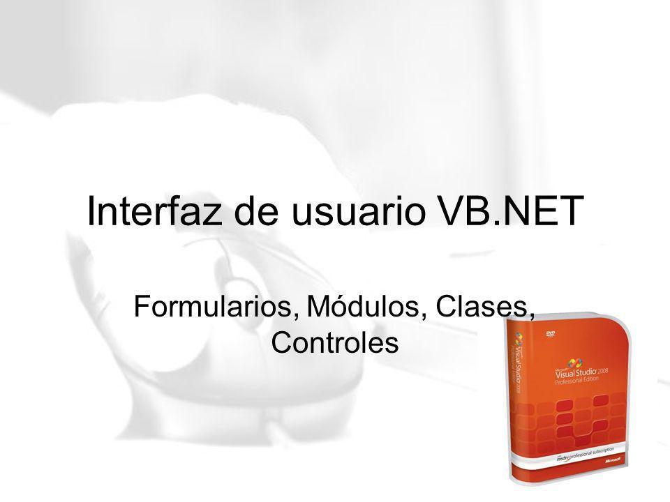 Interfaz de usuario VB.NET