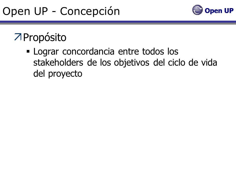 Open UP - Concepción Propósito