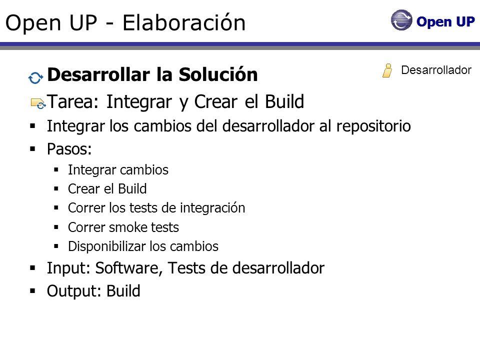 Open UP - Elaboración Desarrollar la Solución
