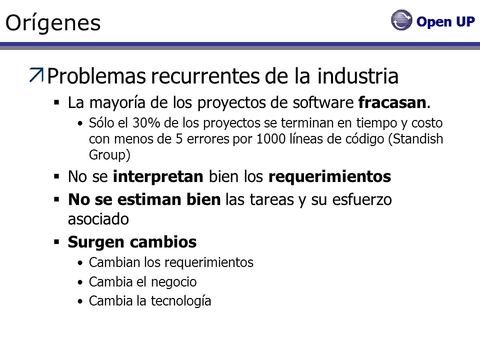 Problemas recurrentes de la industria