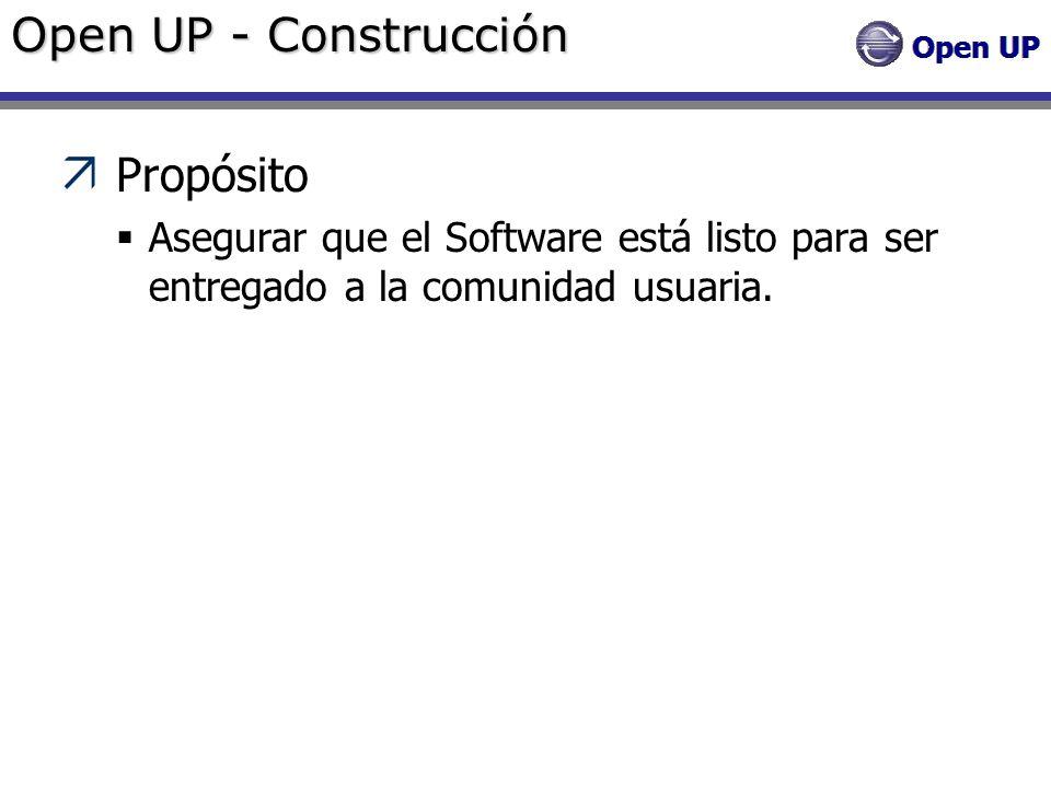 Open UP - Construcción Propósito