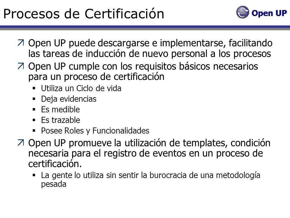 Procesos de Certificación