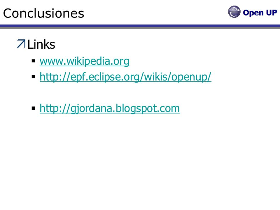 Conclusiones Links www.wikipedia.org