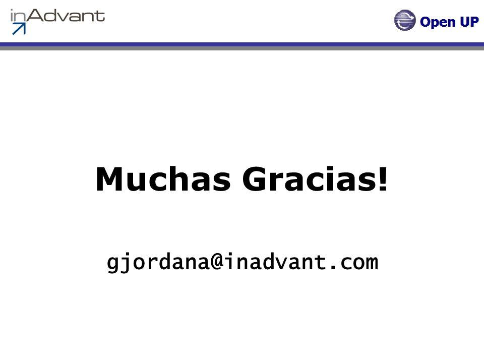 Muchas Gracias! gjordana@inadvant.com