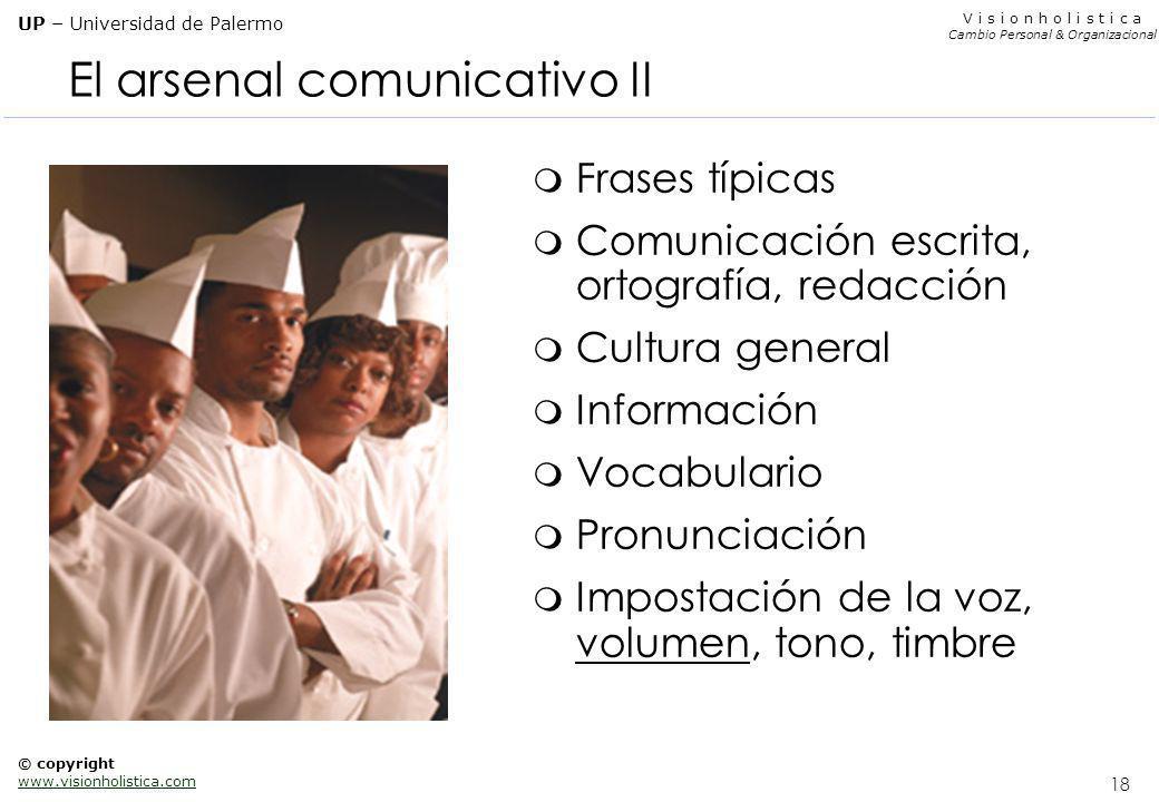 El arsenal comunicativo II