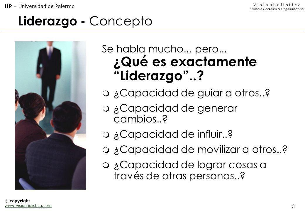 Liderazgo - Concepto Se habla mucho... pero... ¿Qué es exactamente Liderazgo .. ¿Capacidad de guiar a otros..