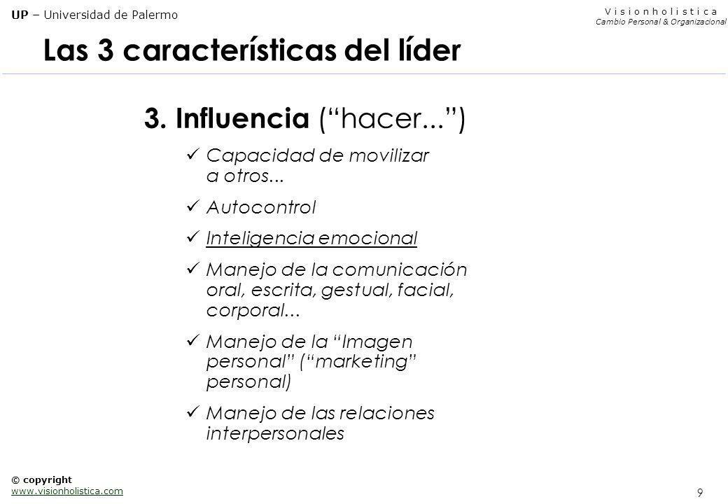 Las 3 características del líder