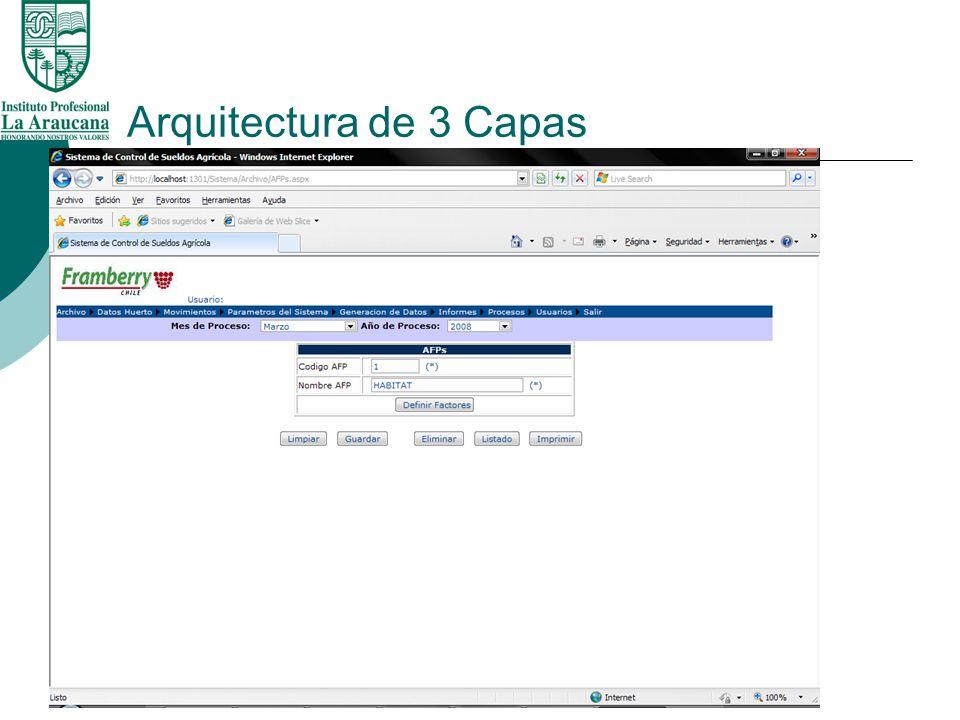 Programacion orientada a objetos ii ppt descargar for Arquitectura 3 capas