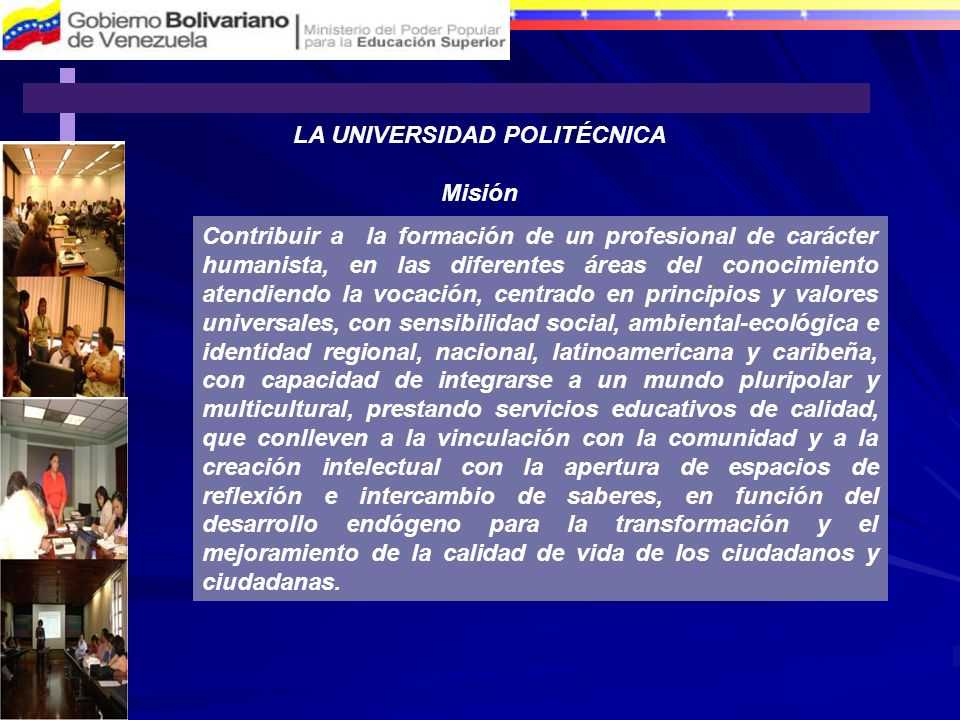 LA UNIVERSIDAD POLITÉCNICA