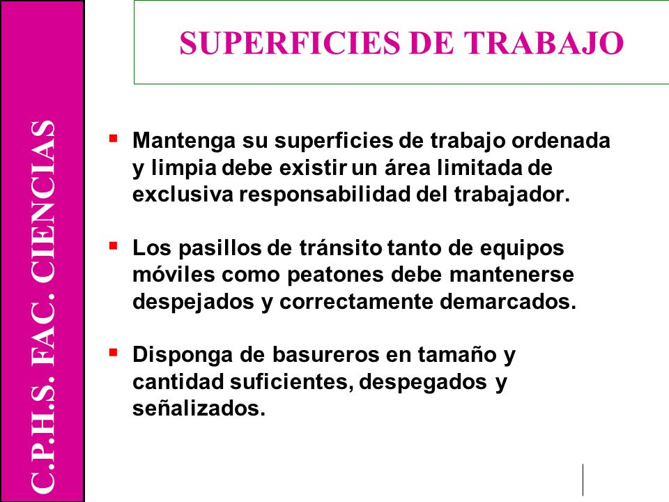 SUPERFICIES DE TRABAJO