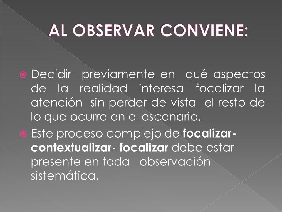 AL OBSERVAR CONVIENE: