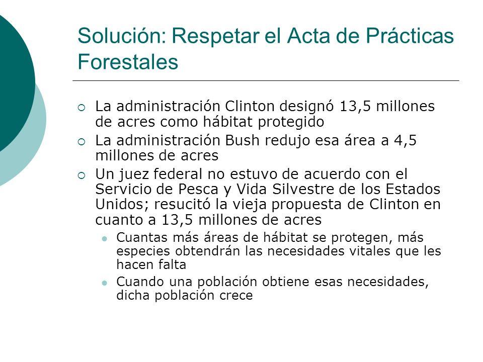 Solución: Respetar el Acta de Prácticas Forestales