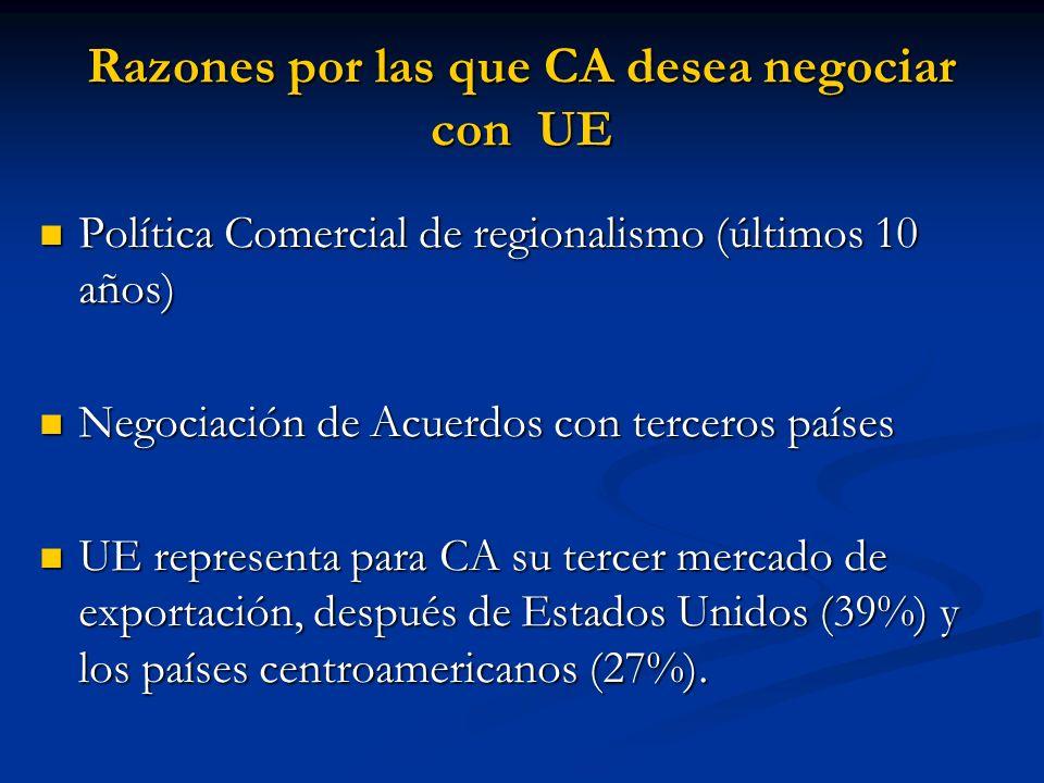 Razones por las que CA desea negociar con UE