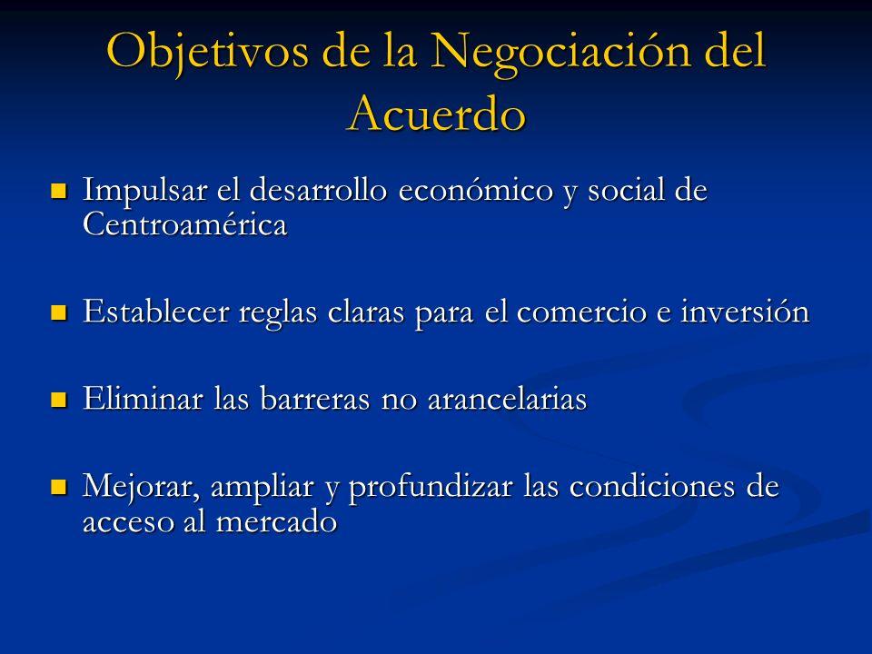 Objetivos de la Negociación del Acuerdo