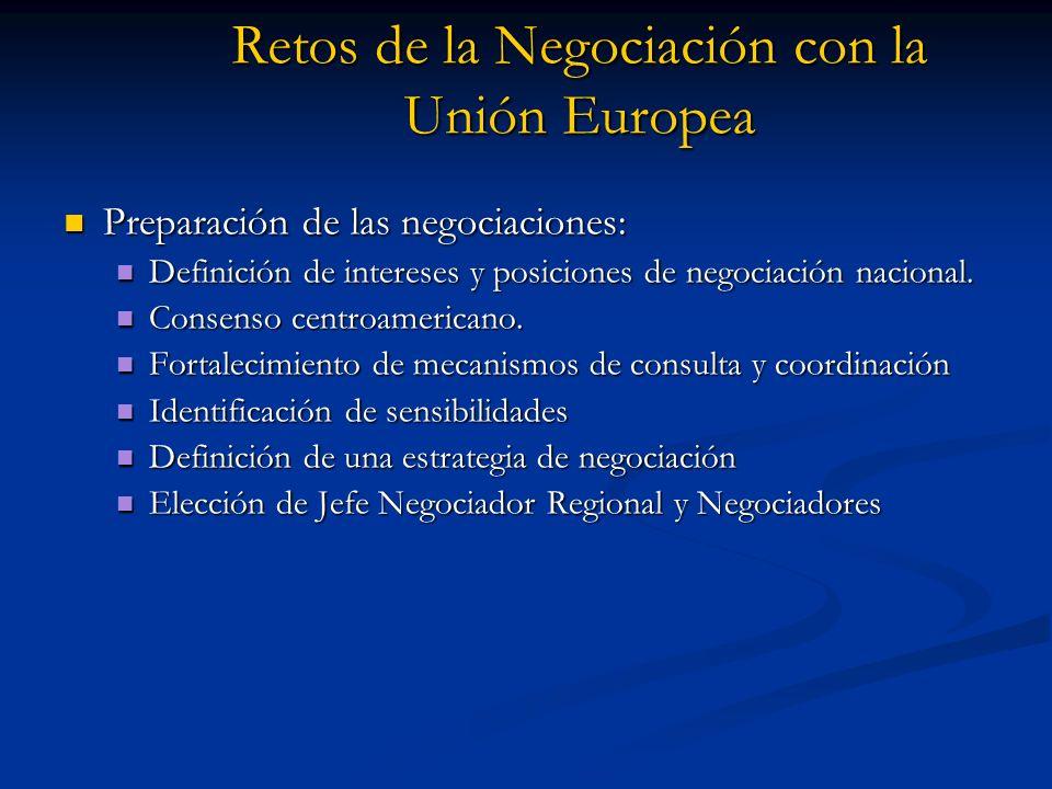 Retos de la Negociación con la Unión Europea