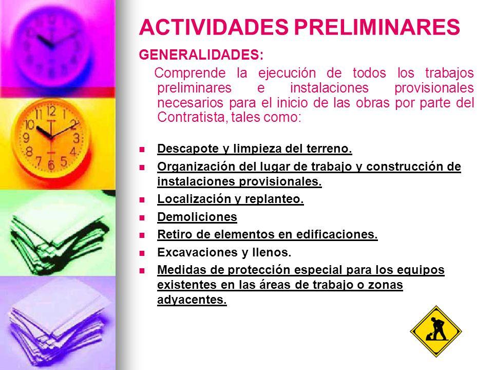 actividades preliminares ppt video online descargar
